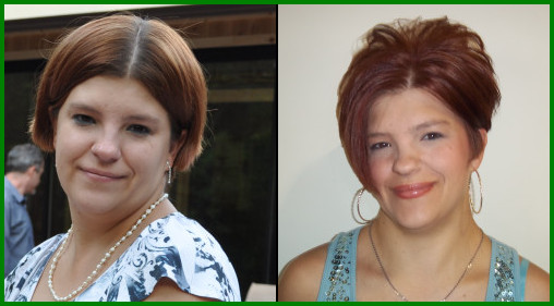 Kris before and after photo at Scottsdale salon