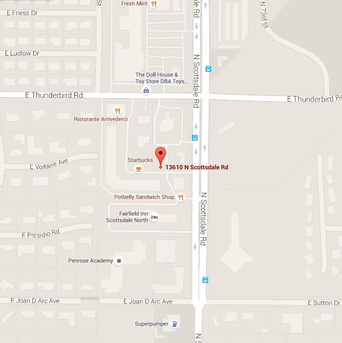 Scottsdale Hair Salon location